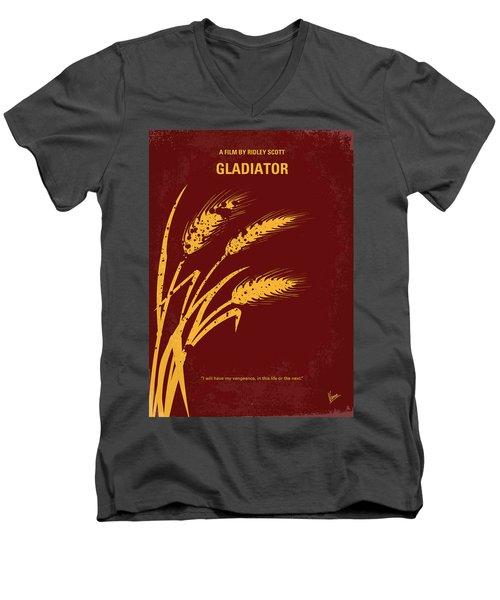 No300 My Gladiator Minimal Movie Poster Men's V-Neck T-Shirt