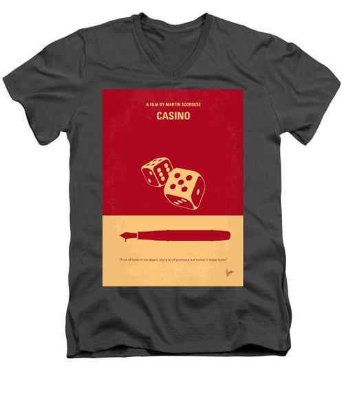 No348 My Casino Minimal Movie Poster Men's V-Neck T-Shirt