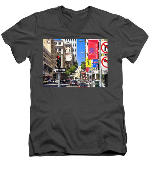 Nob Hill - San Francisco Men's V-Neck T-Shirt