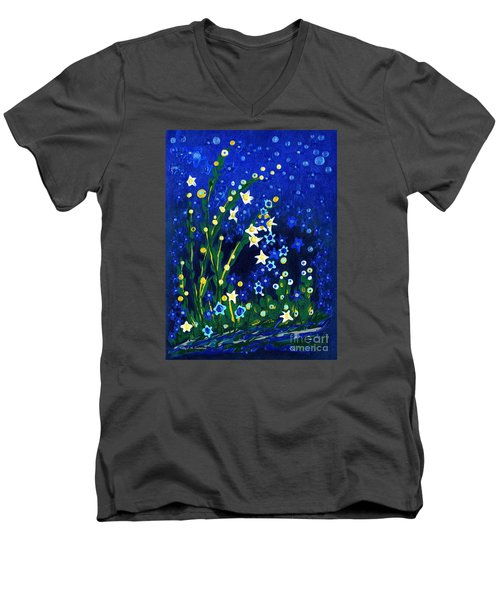 Nocturne Men's V-Neck T-Shirt by Holly Carmichael