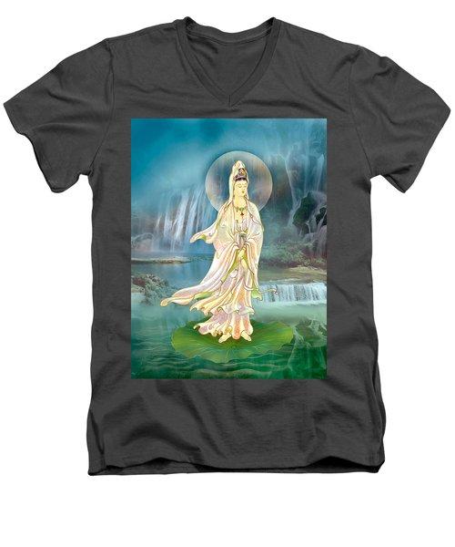 Non-dual Kuan Yin Men's V-Neck T-Shirt