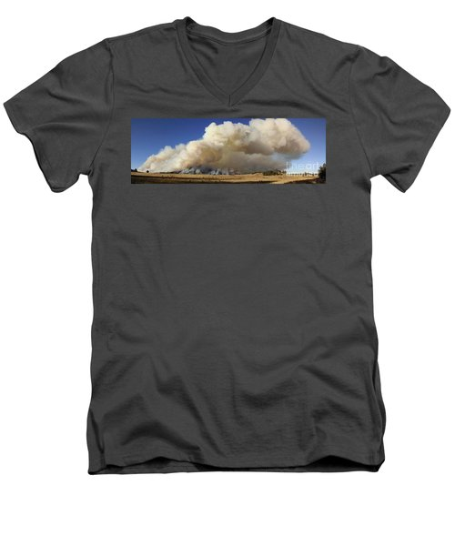Norbeck Prescribed Fire Smoke Column Men's V-Neck T-Shirt