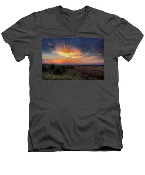 North Refuge Sunrise Men's V-Neck T-Shirt