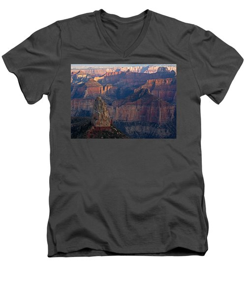 North Rim Sunset Men's V-Neck T-Shirt
