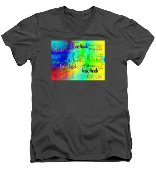 North Shore Beaches Men's V-Neck T-Shirt