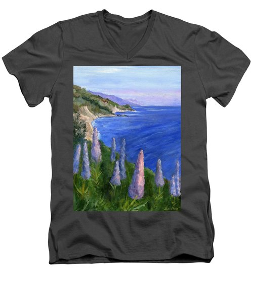 Northern California Cliffs Men's V-Neck T-Shirt