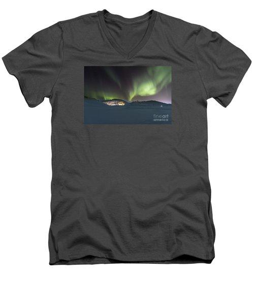 Northern Lights Iceland Men's V-Neck T-Shirt