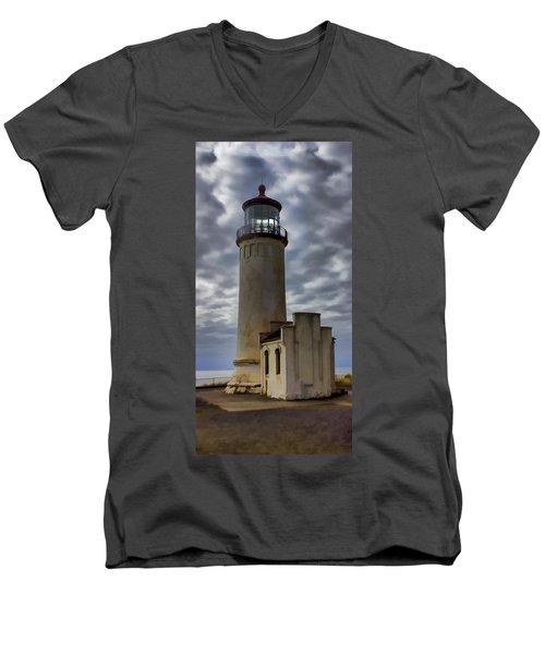 North Head Lighthouse Men's V-Neck T-Shirt