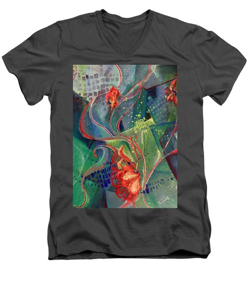 Men's V-Neck T-Shirt featuring the painting Not Destroyed by Susan Will