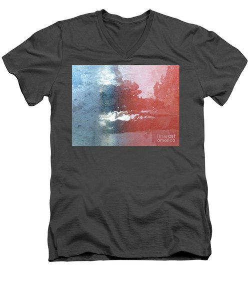Men's V-Neck T-Shirt featuring the photograph Not Making Violet by Brian Boyle