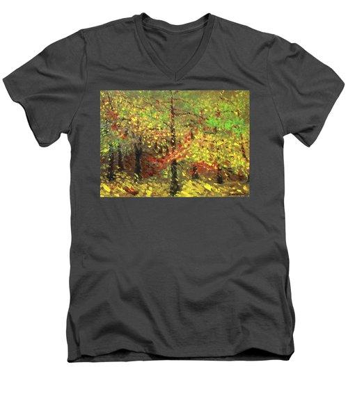 November Men's V-Neck T-Shirt