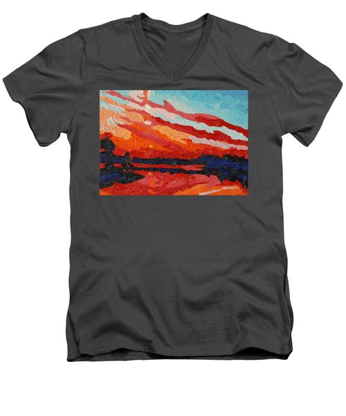 November Sunset Men's V-Neck T-Shirt