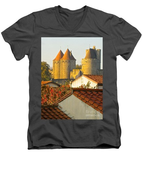 Now And Then Men's V-Neck T-Shirt by Suzanne Oesterling
