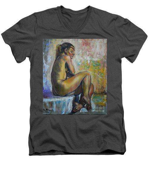 Nude Eva 1 Men's V-Neck T-Shirt