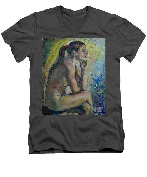 Nude Eva 2 Men's V-Neck T-Shirt