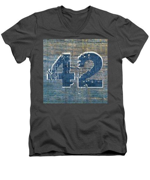 Number 42 Men's V-Neck T-Shirt