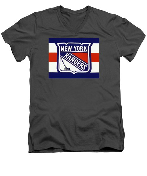 Ny Rangers-7 Men's V-Neck T-Shirt by Nina Bradica