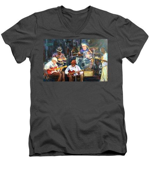 Nyc Blues Men's V-Neck T-Shirt