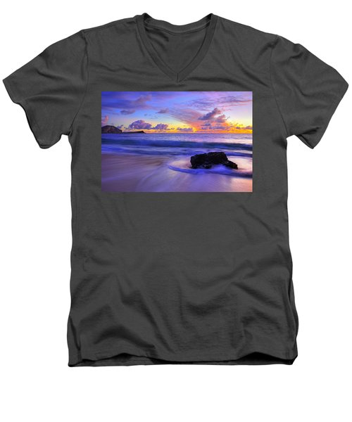 Oahu Sunrise Men's V-Neck T-Shirt