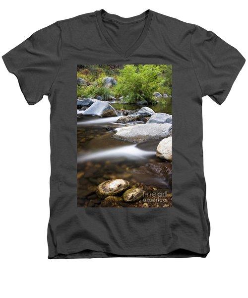 Oak Creek Flowing Men's V-Neck T-Shirt