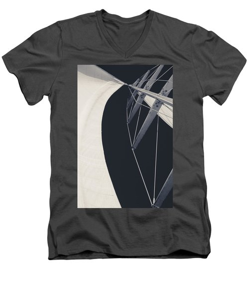 Obsession Sails 9 Black And White Men's V-Neck T-Shirt