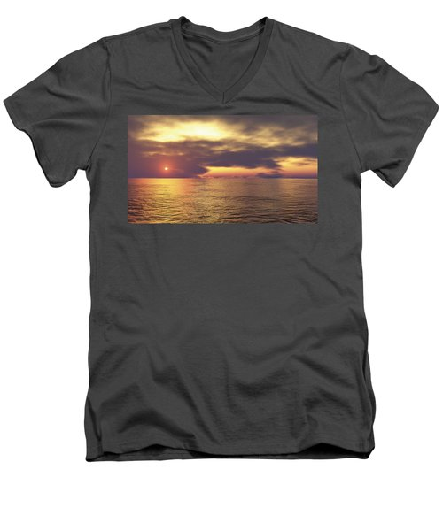 Men's V-Neck T-Shirt featuring the digital art Ocean 2 by Mark Greenberg