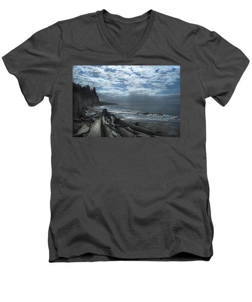 Ocean Beach Pacific Northwest Men's V-Neck T-Shirt