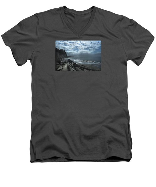 Ocean Beach Pacific Northwest Men's V-Neck T-Shirt