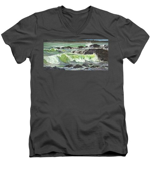 Ocean Emotion Lajolla Cove Men's V-Neck T-Shirt