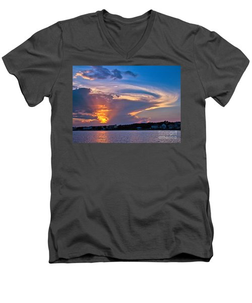 Ocean Isle Sunset Men's V-Neck T-Shirt