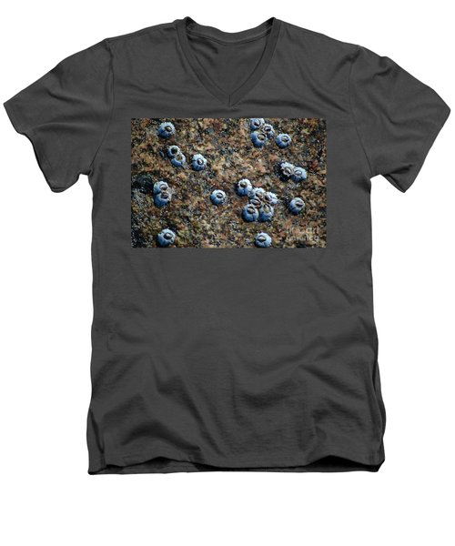 Men's V-Neck T-Shirt featuring the photograph Ocean's Quilt by Christiane Hellner-OBrien