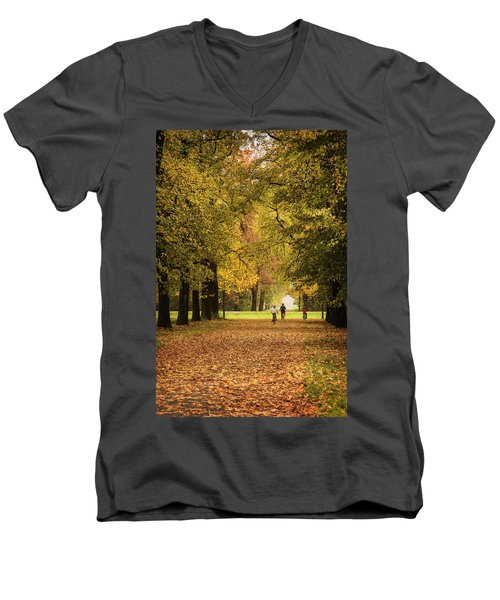 October Men's V-Neck T-Shirt