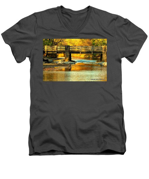 October At Robin Hood Dell Men's V-Neck T-Shirt