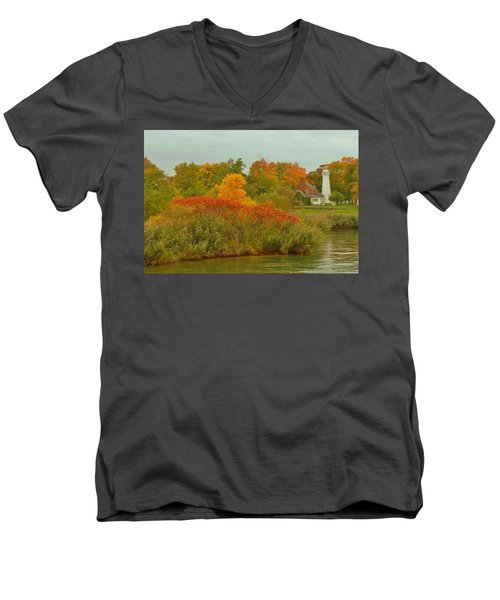 October Light Men's V-Neck T-Shirt