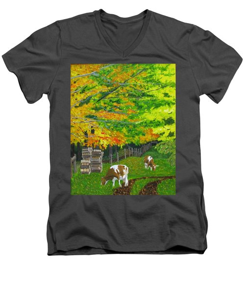 October Pasture Men's V-Neck T-Shirt