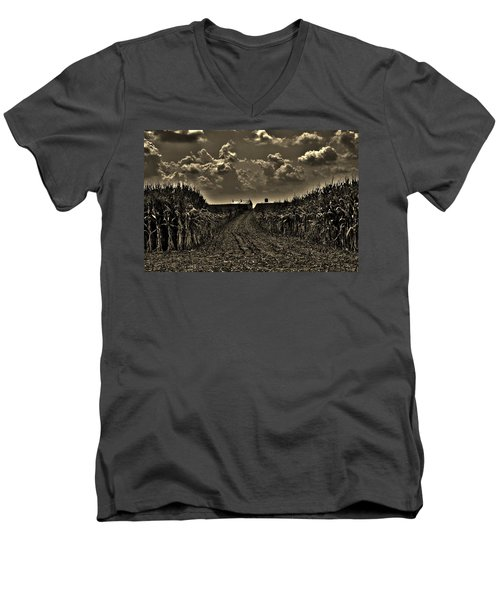 October Sky Men's V-Neck T-Shirt