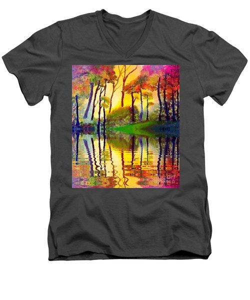 October Surprise Men's V-Neck T-Shirt by Holly Martinson