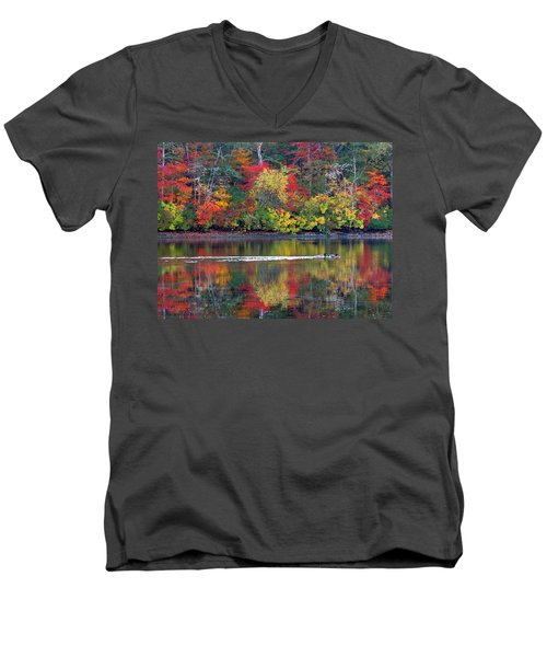 Men's V-Neck T-Shirt featuring the photograph October's Colors by Dianne Cowen