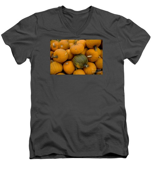 Men's V-Neck T-Shirt featuring the photograph Odd One Out by David Millenheft