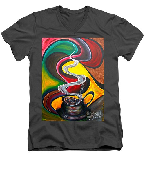 Ode To Coffee... Men's V-Neck T-Shirt