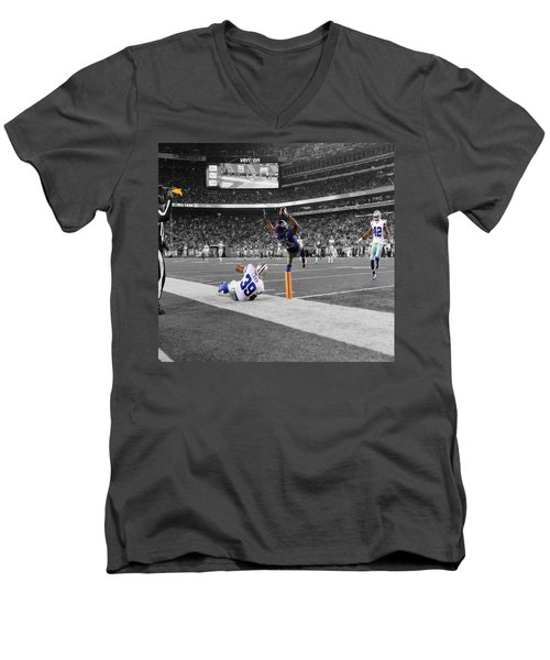 Odell Beckham Breaking The Internet Men's V-Neck T-Shirt by Brian Reaves