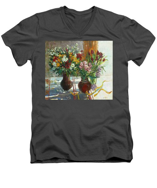 Of Bouquets Plexus Men's V-Neck T-Shirt
