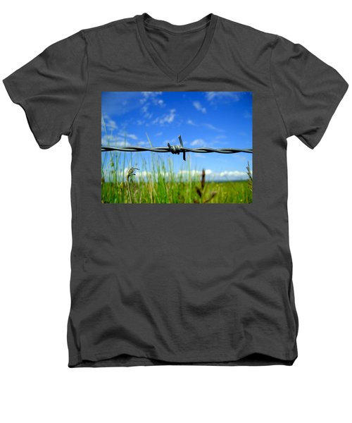 Men's V-Neck T-Shirt featuring the photograph Off Limits by Nina Ficur Feenan