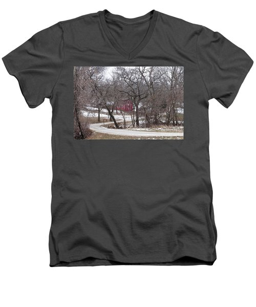 Men's V-Neck T-Shirt featuring the photograph Off The Beaten Path by Liane Wright