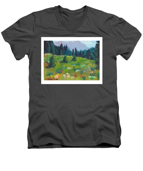 Off The Trail Men's V-Neck T-Shirt by C Sitton