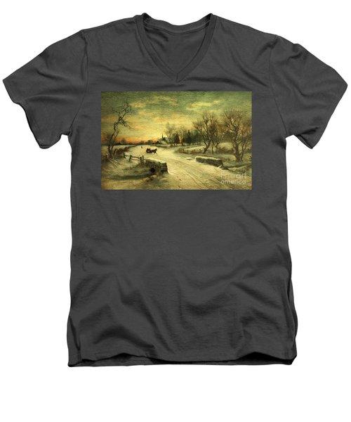 Off To Grandmas - Christmas Morning Men's V-Neck T-Shirt