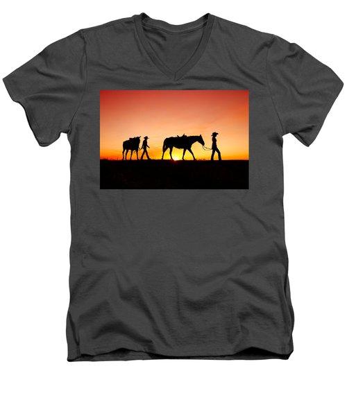 Off To The Barn Men's V-Neck T-Shirt