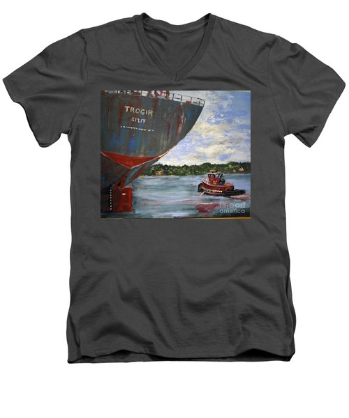 Off To Work Men's V-Neck T-Shirt