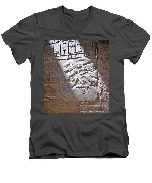 Offerings  Men's V-Neck T-Shirt by Leena Pekkalainen