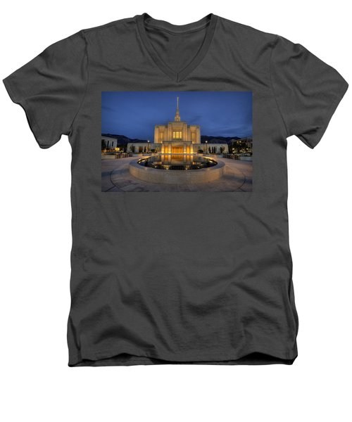 Ogden Temple Reflections Men's V-Neck T-Shirt